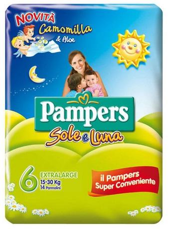 Pampers Sole&Luna Extralarge - Taglia 6 (15-30kg) 14 Pezzi - Farmabros.it