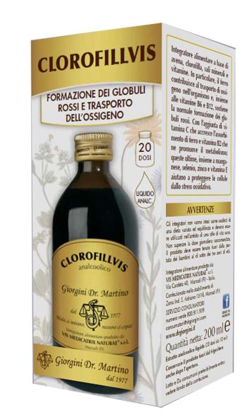 CLOROFILLVIS LIQUIDO ANALCOLICO 200 ML - Farmacia33