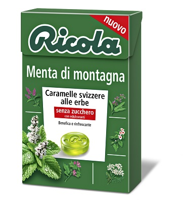 RICOLA MENTA DI MONTAGNA SENZA ZUCCHERO 50 G - Carafarmacia.it