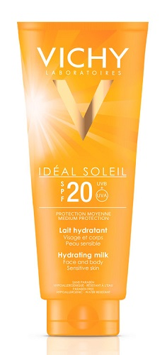 IDEAL SOLEIL LATTE IDRATANTE VISO CORPO SPF 20 300 ML - Farmaci.me
