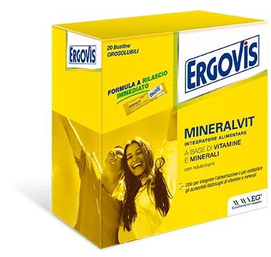 ERGOVIS MINERALVIT 20 BUSTE OROSOLUBILI 30 G - Farmacia Basso