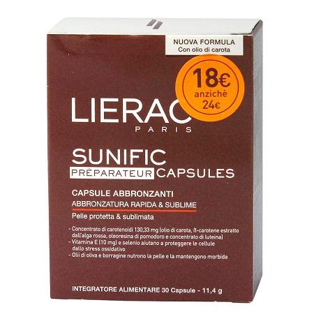 LIERAC SUNIFIC PREPARATEUR BLISTER 30 CAPSULE 12 G - farmaciafalquigolfoparadiso.it