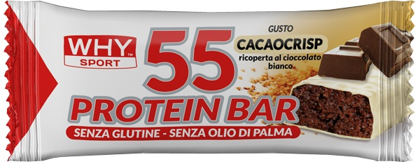 WHY SPORT 55 PROTEIN BARRETTA CACAO CRISP - Farmalke.it