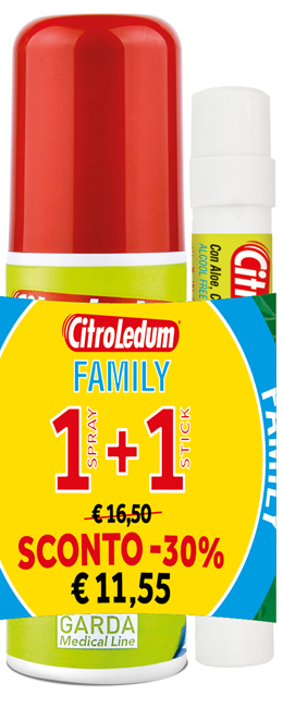 CITROLEDUM FAMILY KIT SPRAY 75 ML + STICK 10 ML - Spacefarma.it