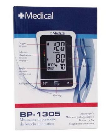SFIGMOMANOMETRO DIGITALE +MEDICAL BP/1305 1 PEZZO - Farmacia della salute 360