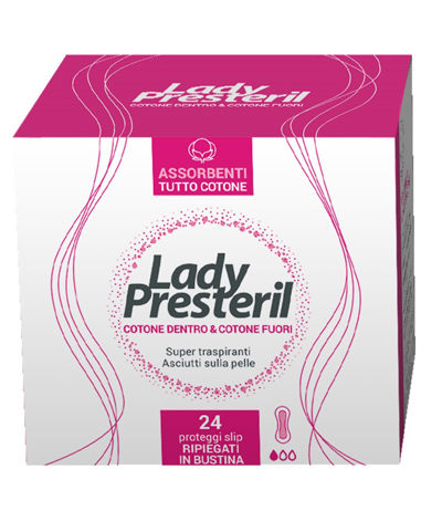 LADY PRESTERIL COTTON POWER PROTEGGI SLIP POCKET ANATOMICI RRIPIEGATI PROMO 24 PEZZI - Farmawing