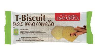 Tisanoreica T-Biscuit Al Gusto Di Mela E Cannella 50g - COSIMAX SRLS