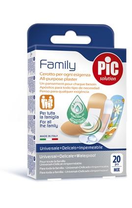 CEROTTO PIC STRIP FAMILY 20 PEZZI ANTIBATTERICO CON TAMPONE - Farmacia 33