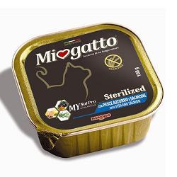 MIOGATTO STERIL PESCE AZZURRO/SALMONE GRAIN FREE 100 G - Farmaci.me