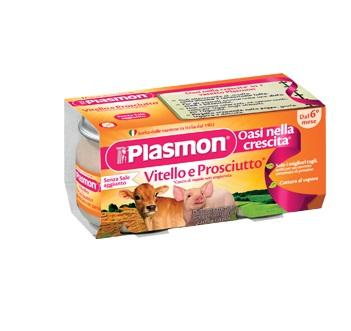 PLASMON OMOGENEIZZATO VITELLO - PROSCIUTTO 4 X 80 G - Farmastop