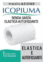 BENDA GARZA ELASTICA ICOPIUMA AUTOFISSANTE CM 4 X 4 MT - Farmacia Centrale Dr. Monteleone Adriano