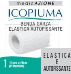 BENDA GARZA ELASTICA ICOPIUMA AUTOFISSANTE CM 10 X 20 MT - Zfarmacia