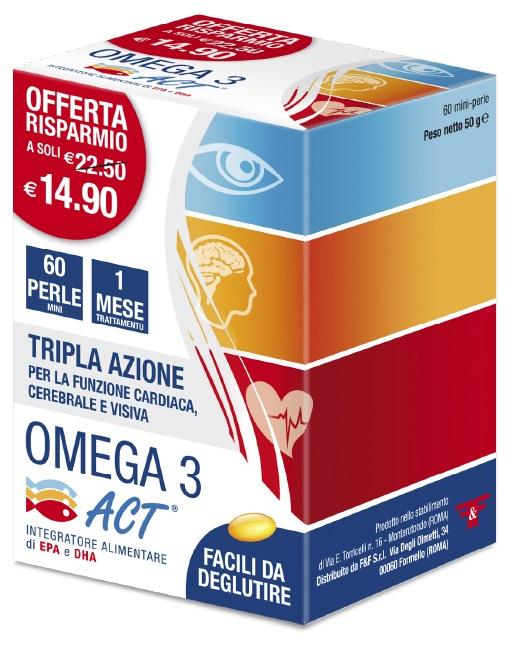 OMEGA 3 ACT 60 PERLE 540 MG - latuafarmaciaonline.it