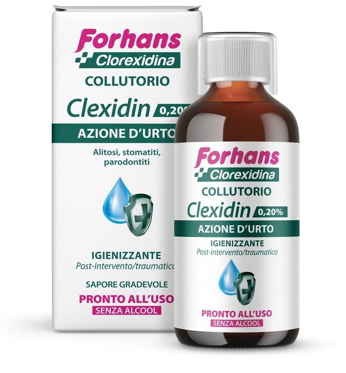 FORHANS CLEXIDIN 0,20 SENZA ALCOOL 200 ML - Parafarmacia la Fattoria della Salute S.n.c. di Delfini Dott.ssa Giulia e Marra Dott.ssa Michela
