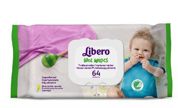 LIBERO WET WIPES SALVIETTINE MONOUSO DETERGENTI E IDRATANTI 64 PEZZI ARTICOLO 4360 - FarmaHub.it
