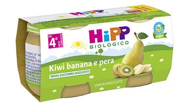HIPP BIO OMOGENEIZZATO KIWI BANANA PERA 100% 2X80 G - Farmabellezza.it