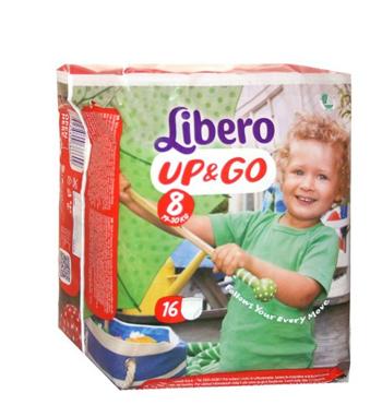 LIBERO UP&GO PANNOLINO PER BAMBINO TAGLIA 8 19-30 KG 16 PEZZI - farmaciafalquigolfoparadiso.it