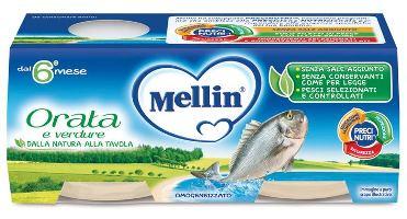MELLIN OMOGENEIZZATO ORATA 4X80 G - Farmaseller