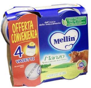 MELLIN OMOGENEIZZATO MANZO 4X80 G - farmaciadeglispeziali.it