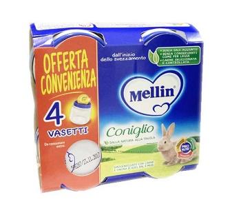 MELLIN OMOGENEIZZATO CONIGLIO 4X80 G - farmaciadeglispeziali.it