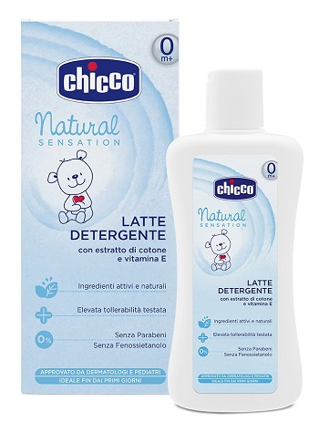 CHICCO LATTE DETERGENTE NATURAL SENSATION 200 ML - Farmabellezza.it