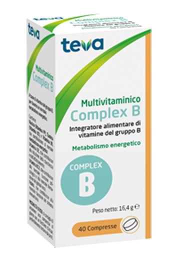 MULTIVITAMINICO COMPLEX B TEVA 40 COMPRESSE 16,4 G - Farmacia Basso