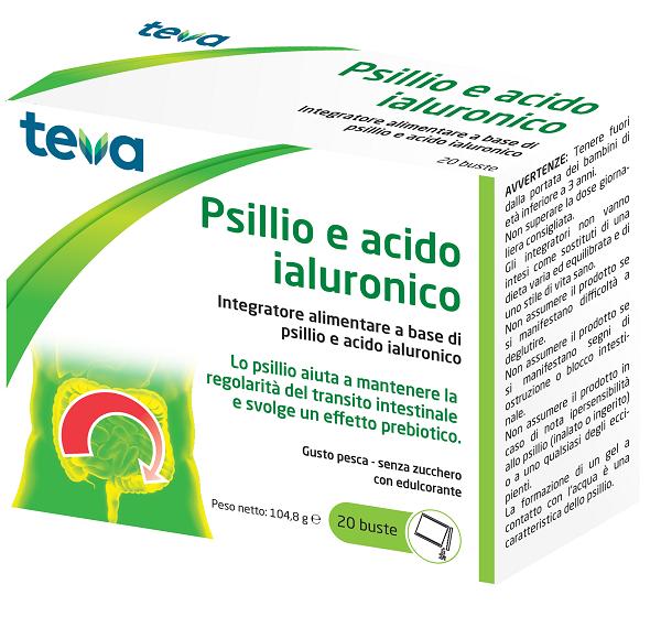 PSILLIO ACIDO IALURONICO TEVA 20 BUSTE 104,8 G - FARMAEMPORIO