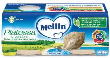 MELLIN OMOGENEIZZATO PLATESSA 4 PEZZI X 80 G - Farmaseller
