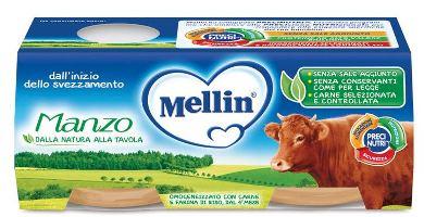 MELLIN OMOGENEIZZATO MANZO 2 X 80 G - farmaciadeglispeziali.it