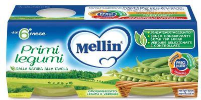 MELLIN OMOGENEIZZATO PRIMI LEGUMI 2 X 80 G - Farmacia Bartoli