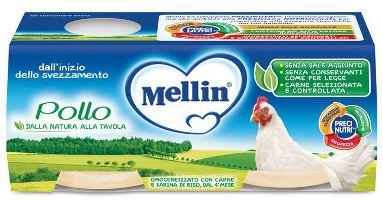 MELLIN OMOGENEIZZATO POLLO 2 X 80 G - farmaciadeglispeziali.it