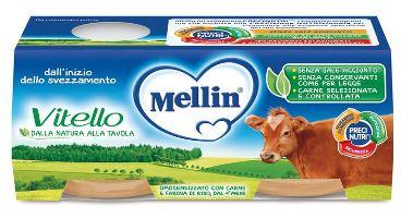 MELLIN OMOGENEIZZATO VITELLO 2 X 80 G - farmaciadeglispeziali.it