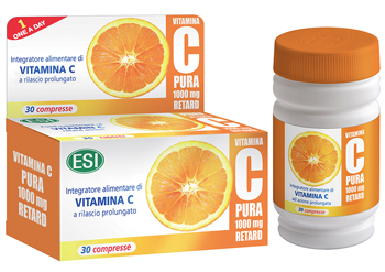 VITAMINA C PURA 1000 MG RETARD 30 COMPRESSE - Farmajoy