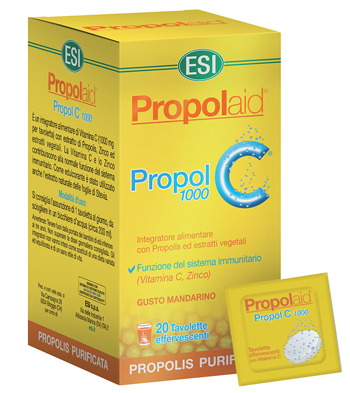 PROPOLAID PROPOL C 1000 MG 20 TAVOLETTE EFFERVESCENTI - Farmafamily.it