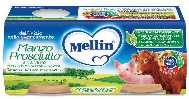 MELLIN OMOGENEIZZATO MANZO PROSCIUTTO CON VERDURE - Farmacia Centrale Dr. Monteleone Adriano