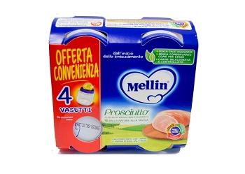 MELLIN OMOGENEIZZATO PROSCIUTTO 4 X 80G - farmaciadeglispeziali.it