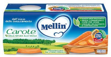 MELLIN OMOGENEIZZATO CAROTE 2 X 80 G - Farmacia Centrale Dr. Monteleone Adriano
