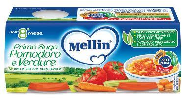 MELLIN PRIMO SUGO POMODORO E VERDURE 2 VASETTI DA 80 G - Farmapage.it