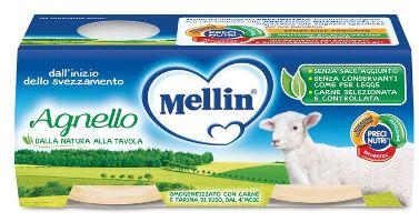 MELLIN OMOGENEIZZATO AGNELLO 2 PEZZI X 80 G - farmaciadeglispeziali.it