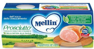 MELLIN OMOGENEIZZATO PROSCIUTTO 2 PEZZI X 80 G - Farmacia Centrale Dr. Monteleone Adriano