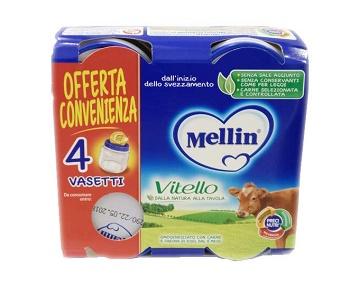 MELLIN OMOGENEIZZATO VITELLO 4 PEZZI X 80 G - farmaciadeglispeziali.it