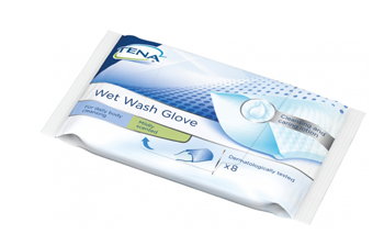 TENA WET WASH GLOVE GUANTO DETERGENTE UMIDIFICATO 8 PEZZI - Farmajoy
