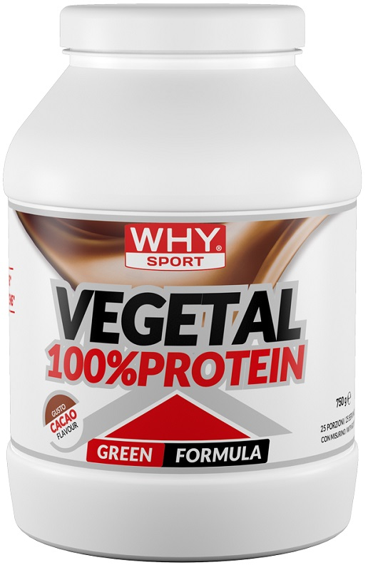 WHY SPORT 100% VEGETAL PROTEIN CACAO 750 G - Spacefarma.it