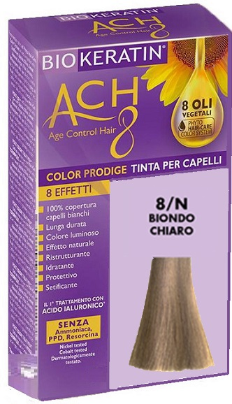 BIOKERATIN ACH8 COLOR PRODIGE 8/N BIONDO CHIARO - Farmaciacarpediem.it