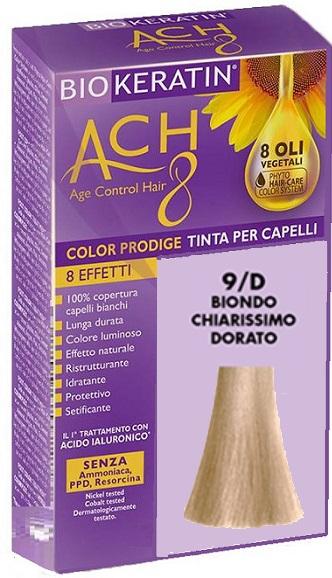 BIOKERATIN ACH8 COLOR PRODIGE 9/D BIONDO CHIARISSIMO DORATO - Farmaciacarpediem.it