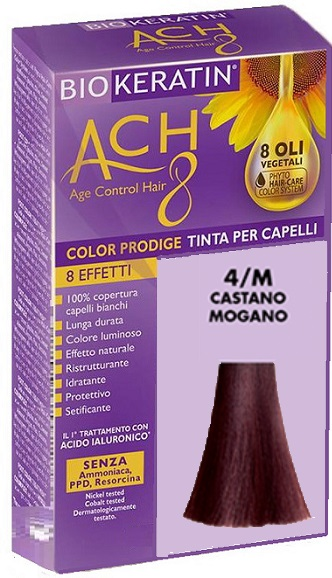 BIOKERATIN ACH8 COLOR PRODIGE 4/M CASTANO MOGANO - Farmaciacarpediem.it