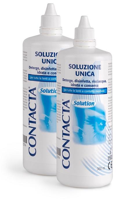 SOLUZIONE PER LENTI A CONTATTO CONTACTA 2 PEZZI 360 ML - La farmacia digitale