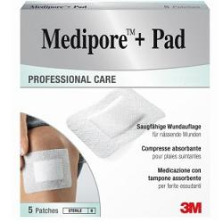 MEDICAZIONE MEDIPORE+PAD 5X7,2CM 5PEZZI - Farmaci.me