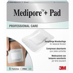 Medipore+Pad Medicazione Sterile 10x10 cm 5 Pezzi
