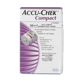Accu-Chek Compact Plasma Strisce Misurazione Glicemia 50 + 1 Pezzi - Arcafarma.it